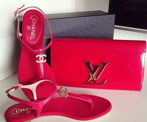 chanel, red, and shoes image