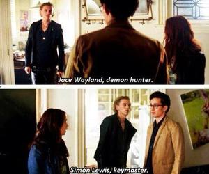 simon lewis, the mortal instruments, and clary fray image
