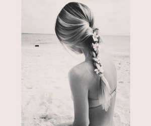 beautiful, black and white, and summer image