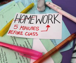 homework, school, and tumblr image
