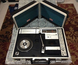 record, record player, and vintage image