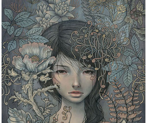 art, audrey kawasaki, and flowers image