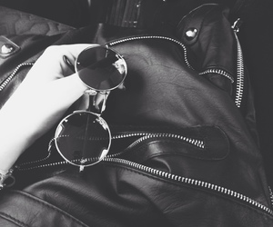 grunge, sunglasses, and black image