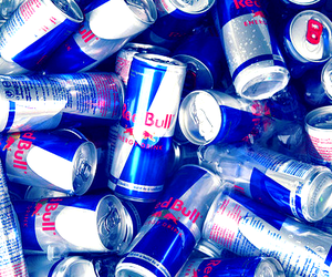 cans, energy, and red bull image