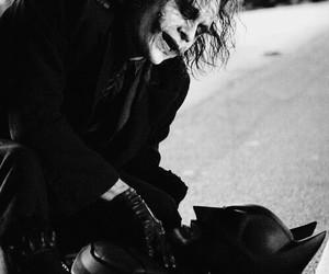 batman, joker, and black and white image