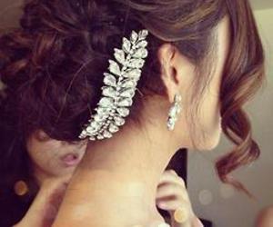 braid, hair, and bun image
