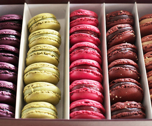 food, delicious, and macaroons image