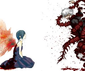 tokyo ghoul, touka, and kaneki image