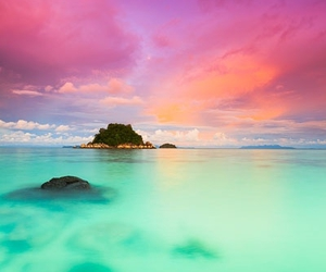 Island, sea, and sky image