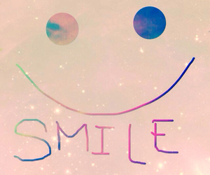 galaxy and smile image
