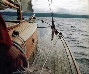 boat, sea, and ocean image