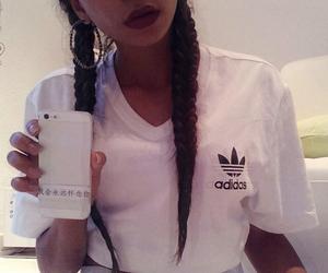 adidas, braids, and fashion image