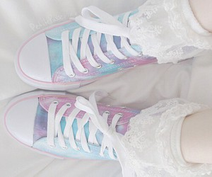 shoes, converse, and pastel image