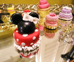 cake, disney, and minnie mouse image