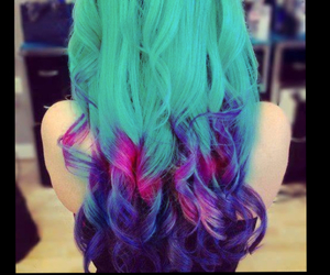 blue, colorful, and dyed hair image