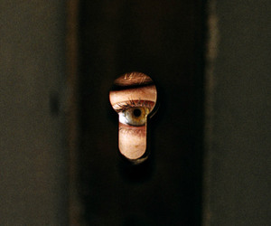 eye, photography, and door image