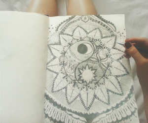 hippie, sketch, and indie image