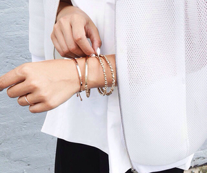 gold, jewelry, and street fashion image