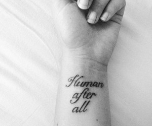 tattoo, human, and quote image