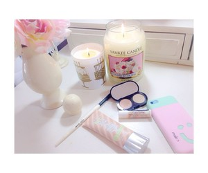 candle, pink, and summer image