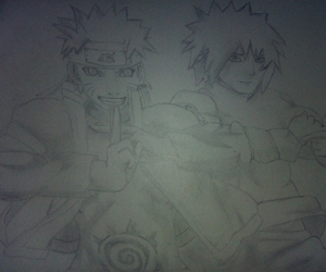 art, drawing, and minato image