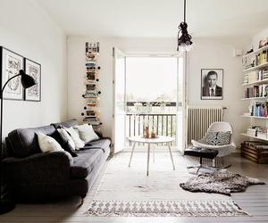 book shelves, neutrals, and grey image