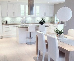 white, kitchen, and home image
