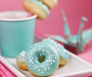 donuts, food, and blue image