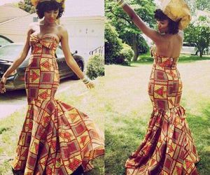 African, outfit, and style image