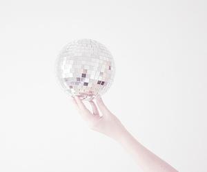 white, ball, and disco image