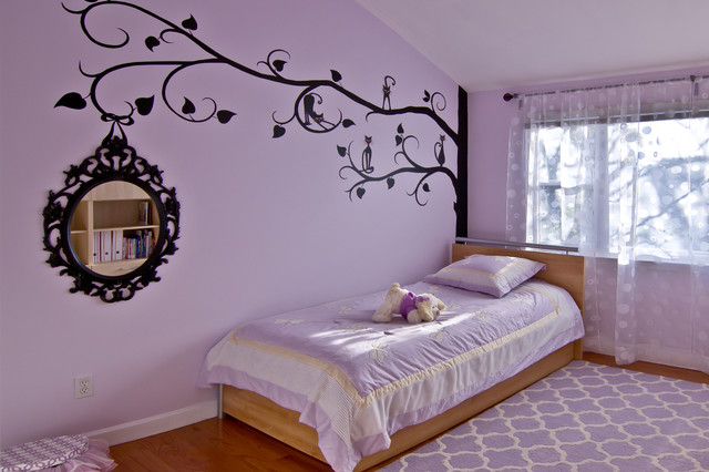 Wondrous S Bedroom Paint Ideas In Transitional Kids With Light Brown Wooden Floor And Soft Purple Concrete Ceiling