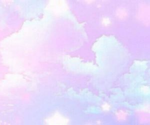 cute, background, and cloud image