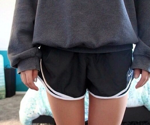 tumblr quality, shorts, and sweater image