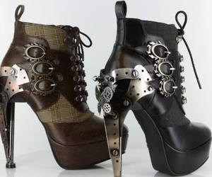 shoes, steampunk, and boots image