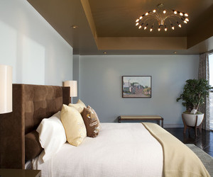 bedroom, sleeping space, and paint color image