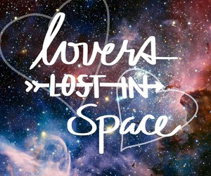 galaxy, hearts, and lost image