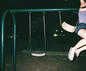 grunge, night, and swing image