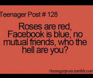 facebook, poem, and roses image