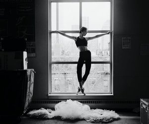 ballet, ballerina, and black and white image