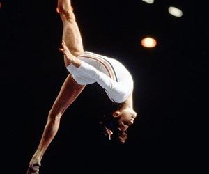 nadia comaneci, beam, and gymnastics image