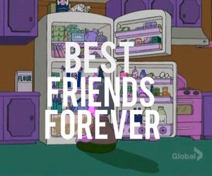 best friends and food image