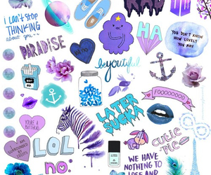 wallpaper, purple, and blue image