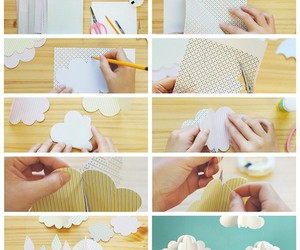 clouds, girl, and craft image