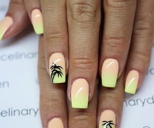 nails, summer, and beauty image
