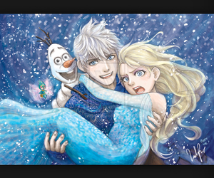 cold, couple, and jack frost image