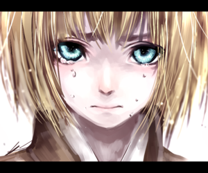 anime, blue eyes, and armin image