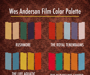 color palette and wes anderson image