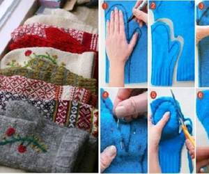 crafts, diy, and mitten image