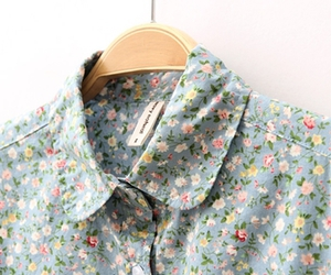 blouse, cotton, and flower image