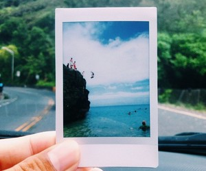 beach, indie, and polaroid image